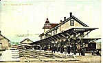 Postcard Kentville station in 1908