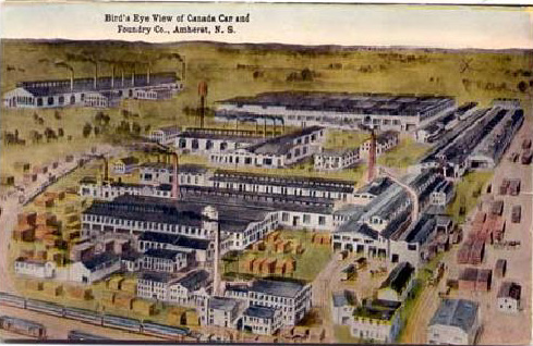 The Amherst Plant of Rhodes Curry (later Canadian Car & Foundry).
