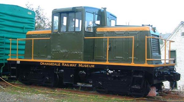 GE 50 ton locomotive at Orangedale