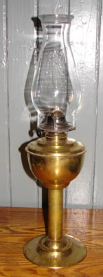 Intercolonial Railway Coal Oil Lamp with ICR initials.