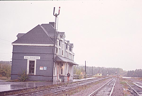 Orangedale station in the 1970s